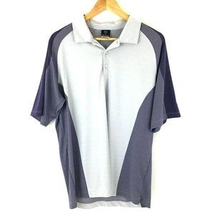 Nike Fit Dry Golf Polo Men L Purple Short Sleeve
